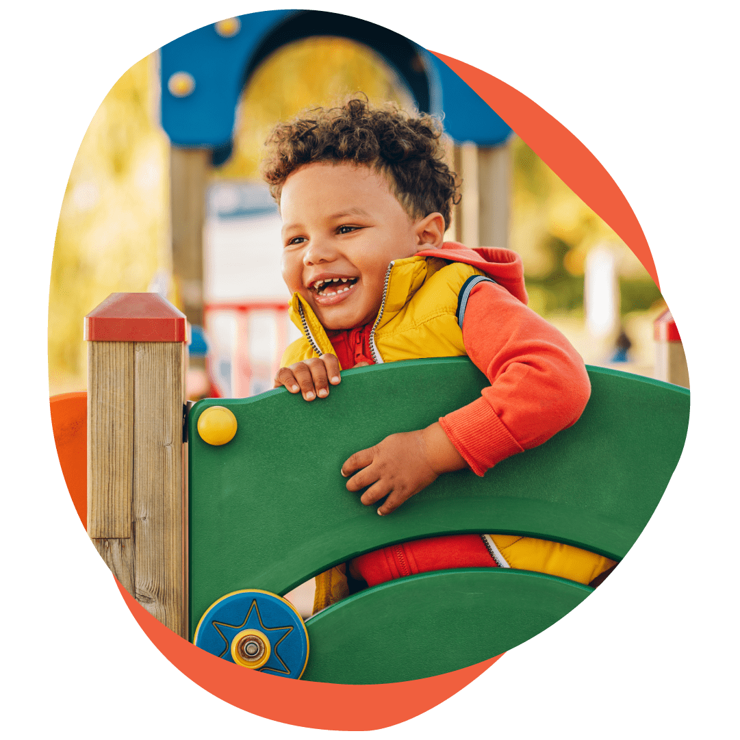 Adorable little 1-2 year old toddler boy having fun on playground-Elevation Autism